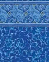 Latham Performance pool liners Legends Wall Deep Blue Fusion Bottom liner pattern