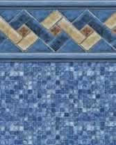 Latham Performance pool liners Mountain Top Wall Blue Mosaic Bottom liner pattern
