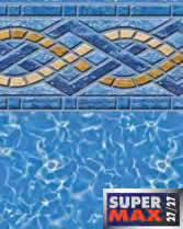 Latham Performance pool liners Panama Wall Royal Prism Bottom liner pattern