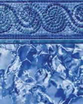 Latham Performance pool liners Spiral Mosaic Wall Ocean Breakers Bottom liner pattern