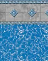Latham Performance pool liners Stonebraid Wall Royal Prism Bottom liner pattern