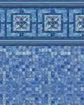Latham Performance pool liners Vintage Mosaic Wall Blue Mosaic Bottom liner pattern