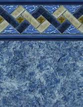 Merlin Industries vinyl pool liners Cannon Beach Tile Port Antonio Bottom liner pattern