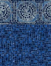 Merlin Industries vinyl pool liners Anchor Bay Tile Miramar Bottom liner pattern