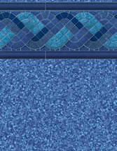 Merlin Industries vinyl pool liners Blue Trinidad Tile Jamaica Bottom liner pattern
