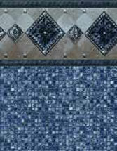 Merlin Industries vinyl pool liners Bonaire Tile Port Royal Bottom liner pattern