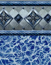 Merlin Industries vinyl pool liners Cape Charles Tile Runaway Bay Bottom liner pattern