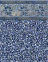 Merlin Industries vinyl pool liners Cape Elizabeth Tile Oceanside Bottom liner pattern