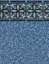 Merlin Industries vinyl pool liners Crystal Cove Tile Brava Beach Bottom liner pattern