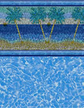 Merlin Industries vinyl pool liners Flamenco Beach Tile Salinas Bottom liner pattern