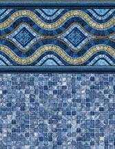 Merlin Industries Best Lowest Price Ingroundvinyl pool liners Fraser Island Tile Outer Banks Bottom liner pattern