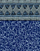 Merlin Industries vinyl pool liners Hampton Bays Tile Blue Lagoon Bottom liner pattern