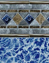 Merlin Industries vinyl pool liners Havana Tile Runaway Bay Bottom liner pattern