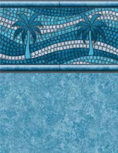 Merlin Industries vinyl pool liners Margarita Island Tile Grand Isle Bottom liner pattern