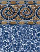 Merlin Industries vinyl pool liners Newport Beach Tile Palm Harbor Bottom liner pattern