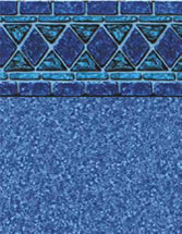 Merlin Industries vinyl pool liners Ochos Rios Tile Blue Cove Bottom liner pattern