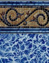 Merlin Industries vinyl pool liners Sandy Cay Tile Runaway Bay Bottom liner pattern