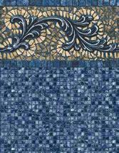 Merlin Industries vinyl pool liners Sebastian Beach Tile Port Royal Bottom liner pattern