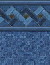 Merlin Industries vinyl pool liners Siesta Key Tile Blue Reef Bottom liner pattern