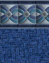 Merlin Industries vinyl pool liners Stinson Beach Tile Miramar Bottom liner pattern