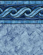 Merlin Industries vinyl pool liners Tulum Tile Dorado Bottom liner pattern