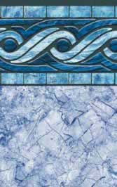 Tara Liners inground replacement vinyl swimming pool liner Glacier Bay pattern