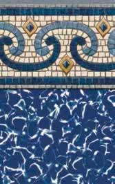 Tara Liners inground replacement vinyl swimming pool liner Monaco pattern